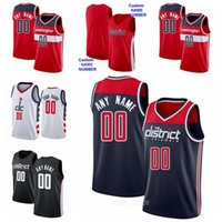Stampa Basket Russell Westbrook Jerseys 4 Bradley Beal 3 Rui Hachimura 8 Robin Lopez 42 Cassius Winston 5 Deni Avdija 9 City Grey