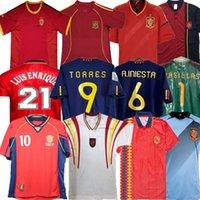 Final 1994 1996 2002 2008 2010 2012 İspanya Retro Futbol Jersey Fabregas Xavi Luis Ensrique Xavi Alonso Iniesta Pique Torres Futbol Gömlek