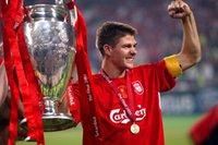 Retro 2005 Istambul Night Futebol Jerseys 04/05 temporada # 8 Gerrard a casa secular casa vermelho camisas de futebol # 14 alonso uniforme de futebol