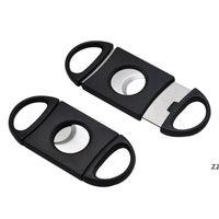 500pcs 고품질 더블 2 2 블레이드 스테인레스 스틸 시가 커터 가위 가위 절단기 플라스틱 손잡이 주머니 HWB10615