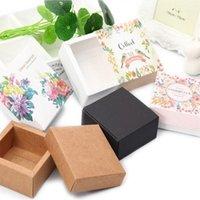 هدية التفاف درج مربع من الفرح كاندي الهواء وسادة bb كريم التجميل براون السكر بقعة نمط يمكن تخصيص اثنين الحجم زهرة 1