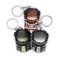 Keychains 3 Colors Fashion Men AVP Alien Mask Keychain Alloy Jewelry War Warrior Pendant Gift For Car Holder Souvenirs