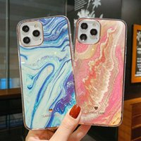 Glitter Gradient Marble Texture Phone Case For iphone 13 11 12 11Pro Max XR XS Max X 7 8 Plus 11Pro 12 Shockproof Bumper Back Cover