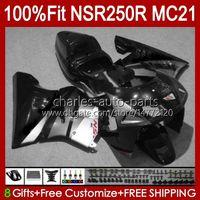 OEM-Injektion für Honda Silvery BLK NSR250 NSR 250 R MC21 PGM3 NSR250R 90 91 92 93 103HC.30 NSR 250R NSR250RR 1990 1991 1992 1993 Verkleidungen