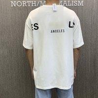 Los Angeles Limitée Couple de réflexion T-shirt T-shirt Fog High Street Loable Sleeve Tee WGTX37010