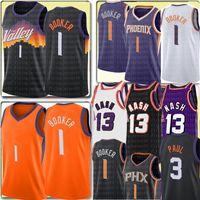 2021 Devin 1 Booker Jersey New Chris 3 Paul Basketball Jerseys Retro Mesh Steve 13 Nash Jersey Mens Kids S M L XL XXL
