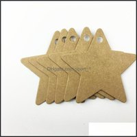 Tags, Jewelry Packaging & Display Jewelrychristmas Year Party Card Gifts Handmade Price Tags Star Shaped Hand-Painted Kraft Paper Label Drop
