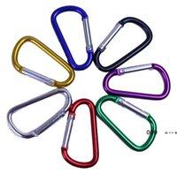 Fournitures de la fête Bague de mousqueton porte-clés Chaînes de clips de camps de sport de plein air Snap Clip Crochet Porte-clés en aluminium Metal Randonnée pratique FWA8483