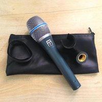 Microfone dinâmico de mão cardioide profissional microfone para beta 87a 87c 87 um misturador de karaokê de fala estúdio de áudio movendo bobina Mic