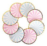 Louça descartável placas de papel de 7 polegadas para festa de chá, casamento nupcial, jardim, chá de bebê - floral