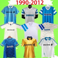 Camisa de futebol retrô Maillot de foot Marseille 1990 1991 1992 1993 1998 1999 2000 DESCHAMPS PIRES Camisa clássica vintage de futebol BOLI PAYET PAPIN