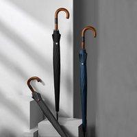 Umbrellas ZUODU Big Luxury Long Umbrella Windproof Wooden Handle Rain Women Men Business Outdoor Golf 123cm Diameter