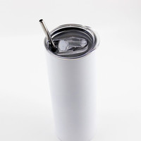 20 oz Tumblers Süblimasyon Skinny Tumblers Boşlukları Paslanmaz Çelik Konik Düz Tumblers Bardak Kısa Su Şişeleri Kahve MUKTOP Satıcı