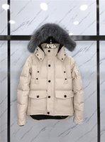 2021 En Kaliteli Erkek Wemens Gerçek Kurt Kürk Yaka Kaz Aşağı Ceketler Mont Sıcak Kış Mont Dış Giyim Ceketler Parkas Kanada Knuckles JD04