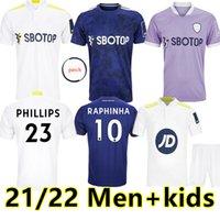 21 22 Leeds Soccer Jersey 2021 2022 United Home Football Shirt Phillips James Harrison Bamford Raphinha Firpo Diego Llorente Rodrigo Men Kits Kits Uniforme