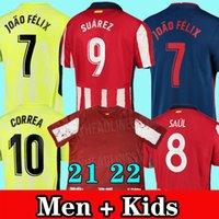 Camisetas Atletico Madrid Soccer Jersey 20 21 camiseta de fútbol JOÃO FÉLIX SUAREZ M. LLORENTE KOKE CORREA DIEGO COSTA chandal de fútbol hombres + conjunto de kits para niños