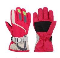 50%off Warm Ski Gloves Fashion Kids Men Women for VIP customer Winter Sports Waterproof Adjustable Skiing Strap Gloves