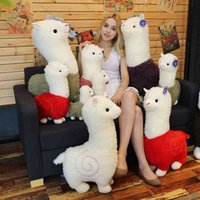Neta rojo alpaca muñeca bestia hierba lodo caballo peluche juguete creativo lindo juguete infantil