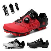 Китайский красный MTB велосипедные туфли мужчин дорожный велосипед кроссовки самоблокировки сверхлегкие наружные горы велосипедные туфли 210702