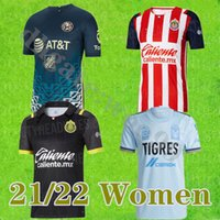 Femmes Soccer Jerseys Liga MX 21 22 Club America 2021 2022 Mexique Tigres Unam Chivas Hommes Chemises de football adultes
