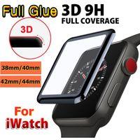 3D كامل الغراء الزجاج المقسى حامي الشاشة ل أبل ووتش 4/5/6 غطاء كامل فقاعة خالية من فقاعة 40MM 42MM 38MM 44MM فيلم ل iwatch سلسلة 1 2 3