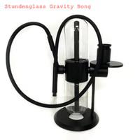 Stundenglass Gravity 담배 봉 그릇 조각 유리 물 봉지 Dab 오일 장비 흡연 파이프