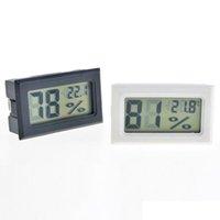 2021 NUEVO NEGO NEGRO / BLANCO FY-11 MINI DIGITAL LCD Entorno Termómetro Higrómetro Medidor de temperatura de humedad en la habitación Refrigerador Icebox Lla377