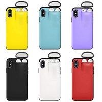 2 in 1 custodia per telefoni cellulari per iPhone 11 Pro Max XS Max XR x 10 8 7 Plus Cover con custodia rigida auricolare per AirPod
