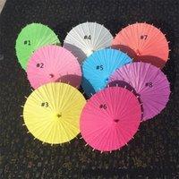 En ucuz!!! Çin Japanesepaper Şemsiye Kağıt Şemsiye Düğün Nedime Parti Için Parti Yaz Güneş Gölge Çocuk Boyutu 20 cm DHL