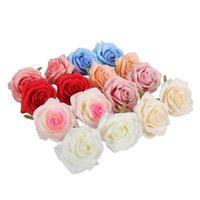 Fiori decorativi Corone 5 pz / lotto 8 cm schiuma rosa fiore artificiale teste PE per la decorazione di nozze fai da te accessori scrapbook falsi