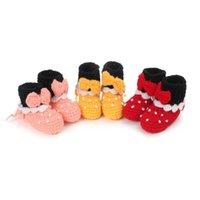 Baby First Walkers Shoes Tooldler Младенческие девушки обувь вязание вязание крючком вязаные точки ручной работы новорожденные носить B6707