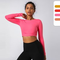Women Tops Tees Clothing Designers Clothes T-shirt Autumn Winter Womens Yoga Fitness Sports Running Outdoor Self-cultivation Dance Casual Quick-drying Long Sleeves