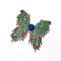 Pins, Broschen Luxus Glänzend Cubic Zirkonia Schmetterling Pins Insekt Schmuck Mode Bunte Kristall Brosche Für Frauen Weihnachten