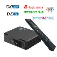 Magicsee C500 PRO S905X3 Android TV Box Цифровой спутниковый приемник DVB-S2X / S2 DVB T2 ASC Android 4K TVBOX для Европы / ASIA / США / CA