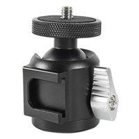 TESTE TREPOD Bexin HK25 1/4 Shoe Mount Adattatore per fotocamera Adattatore Culla Testa a sfera per LED Ring Light Stacket Supporto DSLR Telefono