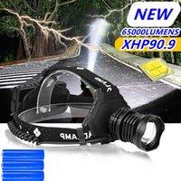 100000 lm xhp90.9 LED Headlamp XHP70.3 alta potência LED farol USB 18650 recarregável cabeça xhp50.2 zoom cabeça tocha