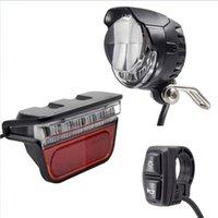 Bike Lights E-Bike Light Set Headlight And LED Ebike Rear Lamp Switch DC 12V 36V 48V 52V Electric Bicycle Accessories