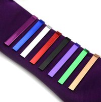 고품질 소매 짧은 실버 남성 구리 넥타이 타이 바 망 크롬 클램프 일반 스키니 넥타이 클립 핀