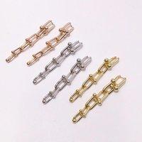 Titanium steel fashion jewelry women t earrings T letter Section six Circle women earrings U long paragraph earrings love jewelry wholesale
