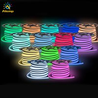 LED Neon Sign 50M RGB Flexible Rope Lights PVC IP67 Waterproof Rainbow Strip Light for Indoor Outdoor Disco Bar Pub Party Christmas Decoration