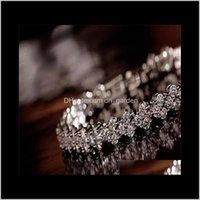 Bracelets Shining Crystal Braceletszircon Diamond Roman Tennis Link Bracelet Jewelry Ps1436 Drop Delivery 2021 Xcng4