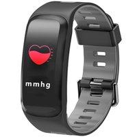F4 Smart Armband Blutdruck Herzfrequenz Monitor Smart Watch Bluetooth-Schrittzähler Sporting Smart Armbanduhr für iPhone ios Android Uhr