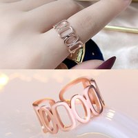 Hollow Chain Rings band finger Women open adjustable Rose gold Knuckle rings street style Personalized Fashion jewelry will and sandy