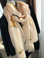 Australien Kaschmirschal weiblicher Herbst und Winter koreanische Version des wilden langen Abschnitts sanfter Khaki-Grenzdrucken Schal Schals