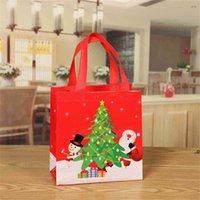 Рождественская подарочная упаковка сумка не сплетенная цветная печать Сумка Santas Bag Bag Candy Claus Bags Xmas подарок Санта-мешки для фестиваля Deco FWA7926