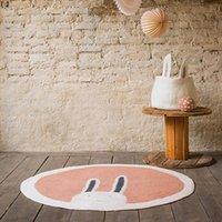 Carpets Baby Play Mats Crawling Carpet Kids Room Floor Rugs Round Cartoon Lion Cotton Game Pad Playmat Children Decoration