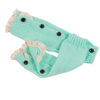 Novo Inverno Macio Quente Crianças Meninas Bebê Trendy Crochet Malha Rendas Bota Bota Cuffs Toppers Socks