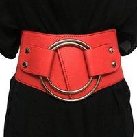 Cinturões vintage cintura larga elástica para senhoras cintura espartilho cintura metal grande anel feminino cinto feminino mulheres cummerbund plut