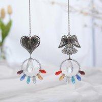 Obiekty dekoracyjne Figurki Okno Car Wiszące Wisiorek Suncatcher Angel Heart Faux Kryształ z oliwek Koralik Waszyn