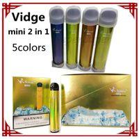 Vidge Mini 2 en 1 Vape de vape desechables E-cigarrillos E-cigarrillos 600 Puffs 400 MAH 5 colores 2ml Ezzy vs Puff Plus Bang XXL GunnPod Código de seguridad Barra de aire